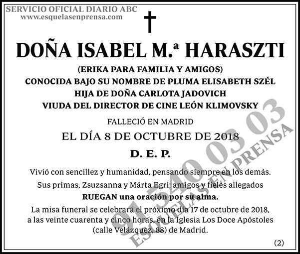 Isabel M.ª Haraszti